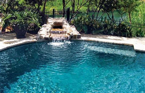 pool waterfalls swimming pools with waterfalls backyard design ideas