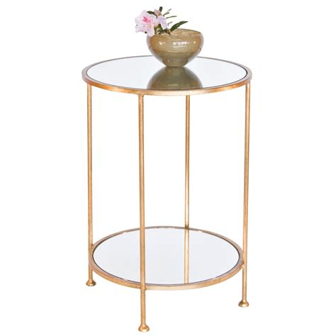 Gold Side Table Worlds Away Chico Small 2 Tier Gold Leaf Side Table Mirror Top Candelabra Inc