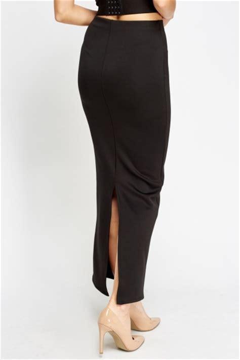 Slit Back Midi Skirt slit back midi skirt royal blue just 163 5