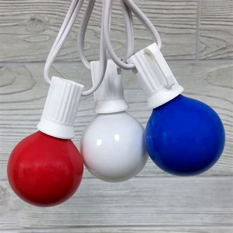 white globe string lights white blue g40 globe string lights