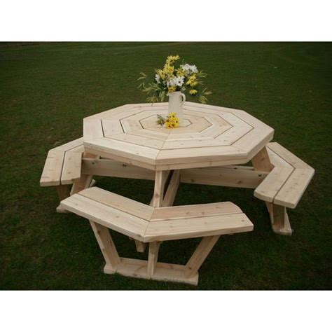 Octagon Patio Table Plans 25 Best Ideas About Octagon Picnic Table On Picnic Table Picnic Table Plans