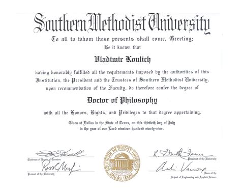 University Degree Certificate Template