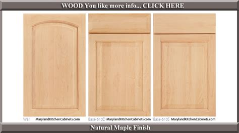 maple finish kitchen cabinets 611 maple cabinet door styles and finishes maryland