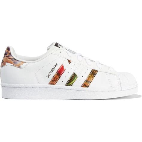 flower pattern trainers adidas originals superstar floral print leather sneakers