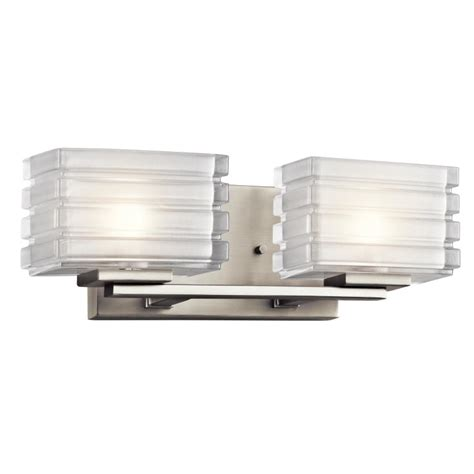 kichler bathroom lighting fixtures kichler 45478ni bazely contemporary brushed nickel finish