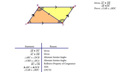 Cpctc Proofs Worksheet With Answers by Practice 4 4 Using Congruent Triangles Cpctc Worksheet
