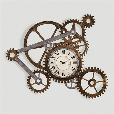 art wall clock gear wall art with clock clocks walls and steunk house