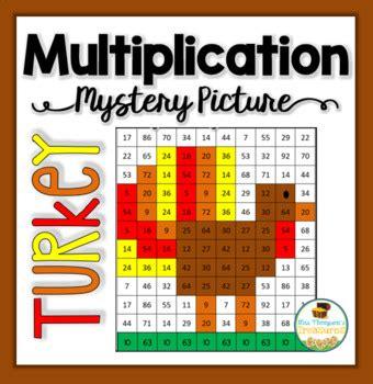 printable turkey multiplication multiplication mystery picture turkey thanksgiving math