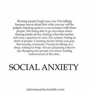 Social anxiety thoughts on life pinterest