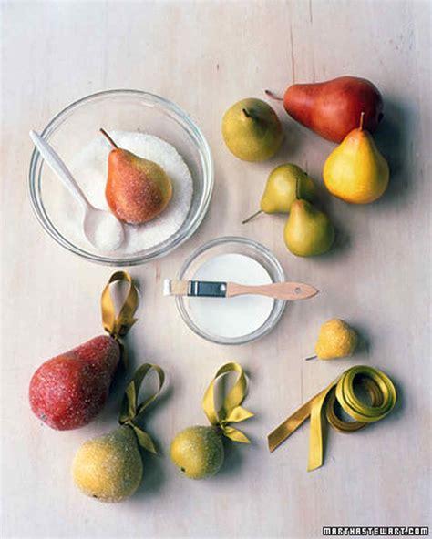Martha Stewart Ornaments Handmade - frosted pear ornaments martha stewart