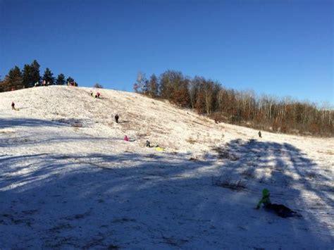sledding mn world class sledding review of shingnobee recreation