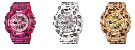Baby G Leopard casio releases new leopard print baby g to suit the wrist