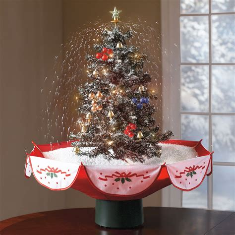 Charming Artificial Charlie Brown Christmas Tree #4: Tabletop-snowing-christmas-tree-1.jpg