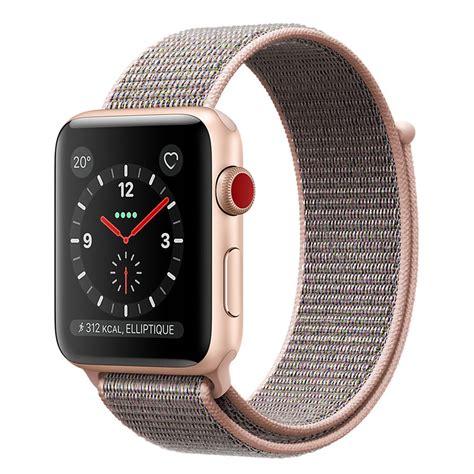 Apple Serie 3 Montre by Apple Series 3 Gps Cellular Aluminium Or Sport 38 Mm Montre Connect 233 E Apple Sur