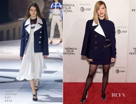 lea seydoux red carpet fashion awards lea seydoux in louis vuitton zoe tribeca film festival