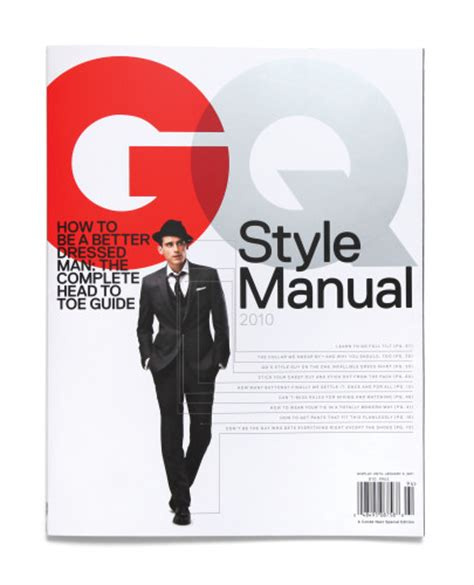 gq magazine cover template the style manual gq special edition