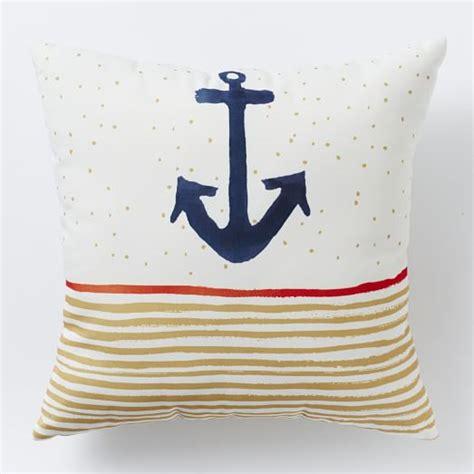 outdoor anchor stripe pillow west elm