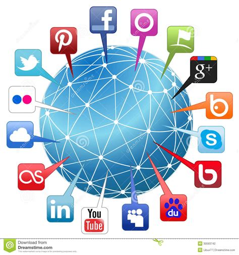 Social Network Search Engine World Social Network Concept Stock Photography Image 30593742