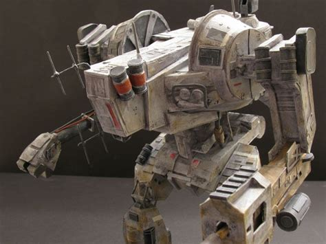 Papercraft Mech - hawken assault mech papercraft by firebrand creations