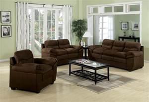 microfiber living room set acme standford easy rider microfiber living room set in chocolate