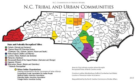 american tribes south carolina map nc doa commission of indian affairs