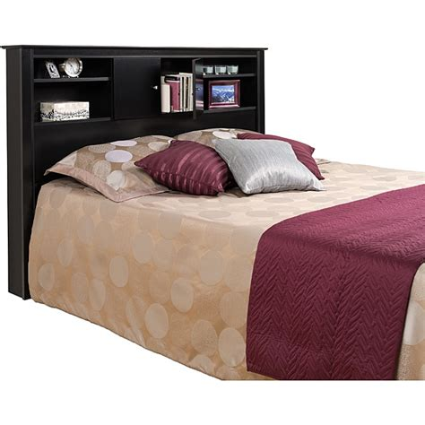 nicola black full queen size storage headboard free