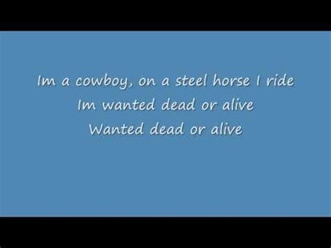 tutorial wanted dead or alive wanted dead or alive cover bon jovi lyrics youtube