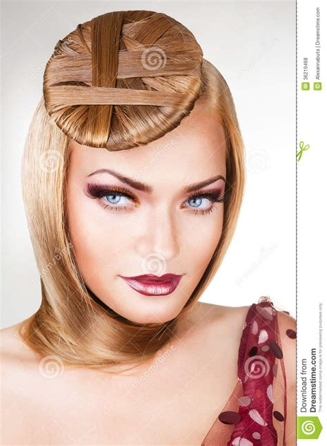 lady neck hair blond sexy lady with blue eyes and hair royalty free stock