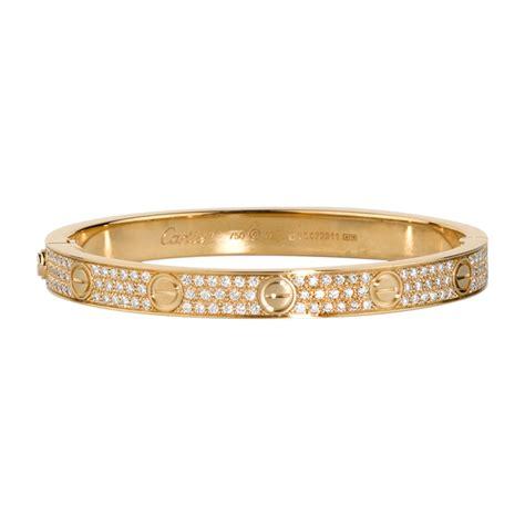 Gelang Cartier Gelang Cartier Clip bracelet yellow gold diamonds bracelets for