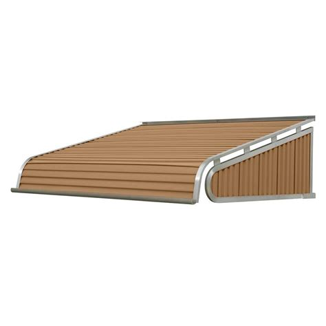 metal awnings home depot nuimage awnings 6 ft 1500 series door canopy aluminum awning 20 in h x 54 in d in
