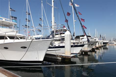 san pedro boat show lots of yachts the southern california boat show sails