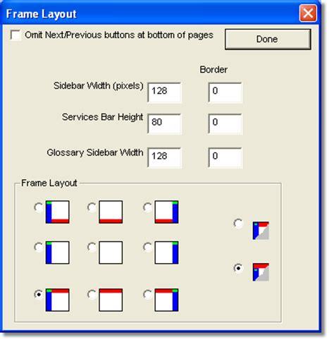 web design layout framework customizing the web site layout