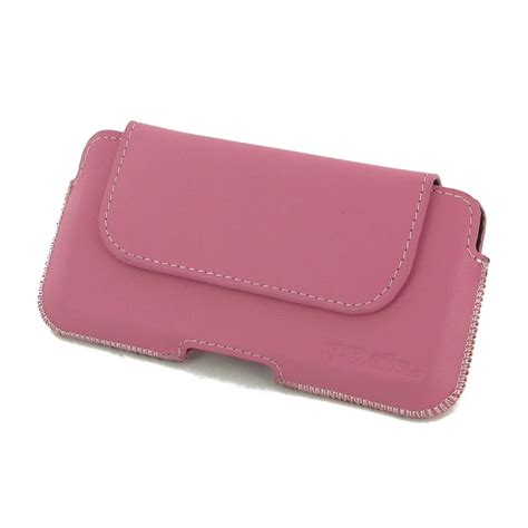 Pink Pouch iphone 7 leather holster pouch petal pink pdair sleeve