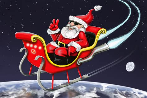 santa and his sleigh 2