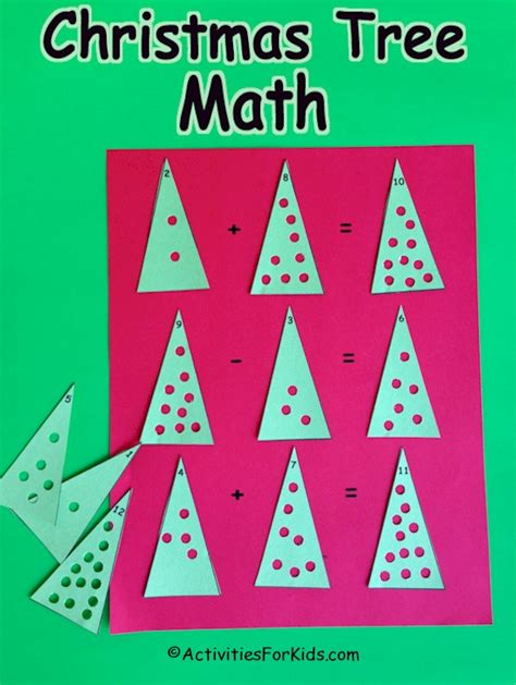 christmas tree math activities for kids