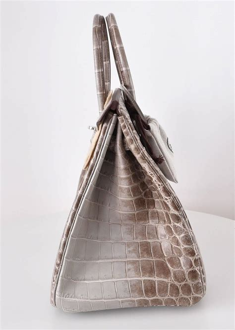Mes Birkin Himalaya Mini hermes birkin bag 30cm himalayan white niloticus crocodile st m janefinds at 1stdibs