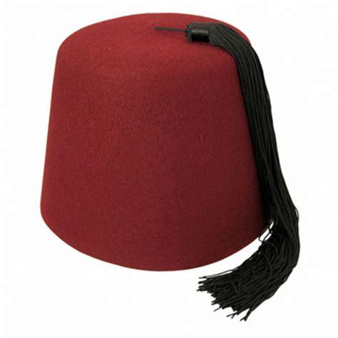 The Fez hat shop maroon fez with black tassel fez