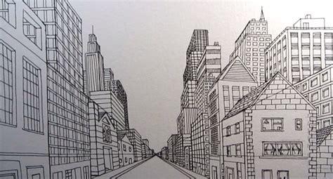 tutorial menggambar perspektif 1 titik lenyap cara menggambar kota jalan di satu titik perspektif z
