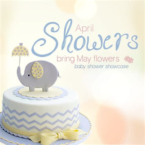 April Showers Bring May Flowers Baby Shower by April Showers Bring May Flowers Satin