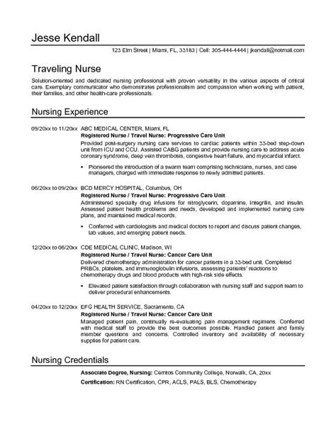 exle travel resume free sle