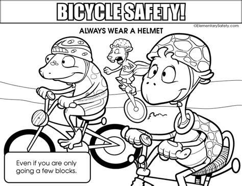 Bike Safety Coloring Pages coloring bicycle safety