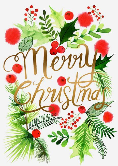 205 best watercolor christmas images on pinterest
