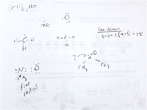 Lewis Structure on (CH3)2NO? - Chemistry Stack Exchange (ch3) 2s Lewis Structure