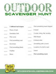 Kid s projects outdoor scavenger hunt with free printable