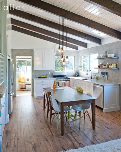 design sponge kitchen before after industrial yet cozy kitchen redo design