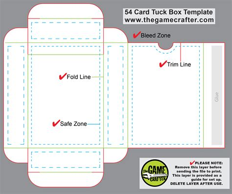 tuck box template for cards from to reality a story of design jeux galasoft