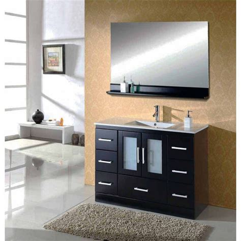 48 quot zola single sink bathroom vanity by virtu usa made