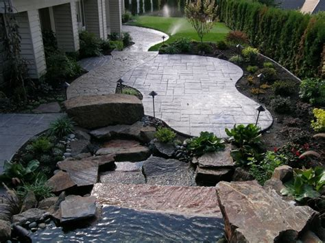 concrete backyard design booming outdoor living trend leads to quot concrete ideas quot
