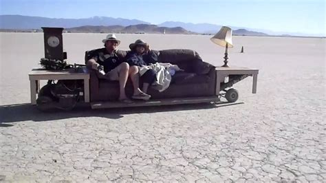 couch on wheels hilarious sofa on wheels on the dry lake bed youtube