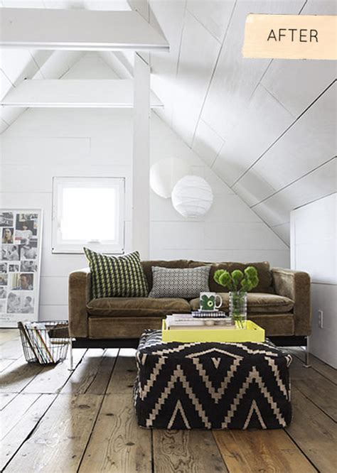 before after serene attic bedroom makeover idea decorating envy 7 awesome attic transformations decorating your small space